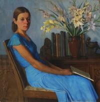 Portret córki, 1928, olej, płótno, wł. prywatna, Warszawa.