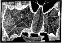 """Zygmunt Kotlarczyk, """"Zdobycz"""", 1964, linoryt, 350×502 mm"""