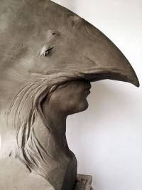 """Gracjan Kaja, """"Nieumiarkowanie"""", rzeźba, wys. 63 cm (2016)"""