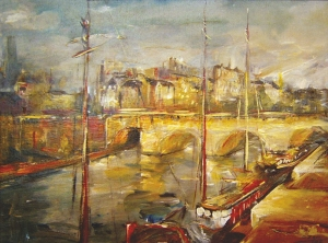 """""""Le Pont Neuf, Paryż"""", olej, 2006"""