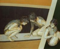 Na temat kobiety XXXVII, olej, żywica, 100×120 cm, 2006.