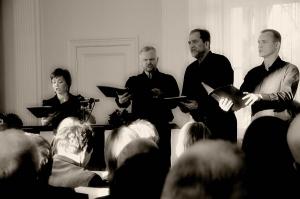 Collegium Vocale: Patrycja Cywińska-Gacka, Janusz Cabała, Michał Zieliński i Łukasz Hermanowicz