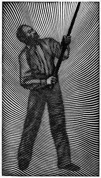 Jacek Solinski, Drążenie nieba, linoryt 2013