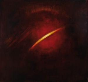 Jerzy Puciata, Smuga światła w czerwieni, 2008, olej, płótno, 140×150 cm