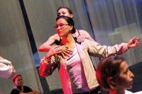 Anna Grabka na próbie z baletem Opery Nova (2011)