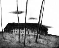 """""""Stary Dom"""", 27×33 cm, tusz, papier, 2013"""