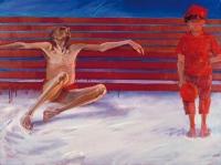 Cztery pory przemijania: zima, 1995, olej na płótnie, 70×100 cm.