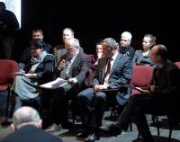 Marzena Sadowska podczas spotkania Forum Kultury z udziałem m.in. prezydenta Rafała Bruskiego i Krzysztofa Sadowskiego