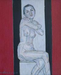 """Kazimierz Drejas, """"Akt XIV"""", 2014, olej, 40×33 cm"""