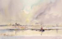 Panorama Torunia, akwarela, 50×70 cm, 2013