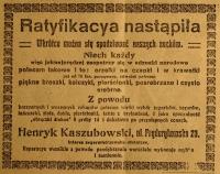 """""""Skąd to się wzięło?"""" – pyta pani Konstancja w powieści Wierzbińskiego. – Prasowy anons zdaje się rezolutnie odpowiadać: Ze sklepu. """"Niech każdy zaopatrzy się w odznaki narodowe!"""" – wzywa reklama A.D. 1920!"""