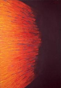 """Stefan Gierkowski, """"Nie będziesz pożądał..."""", 1987, olej na płótnie"""