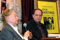 Julia Hartwig i Krzysztof Myszkowski - spotkanie autorskie poetki w Bydgoszczy (2008)