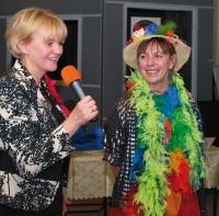 Jolanta Niwińska i Ewa Chotomska podczas spotkania z czytelnikami w radiu PiK