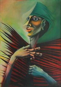 Jan Kaja, Przeplecięty, 1980, olej, płótno, 70x100 cm