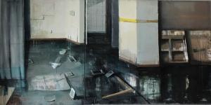 Bez tytułu, olej, płótno, 130×260 cm, 2016
